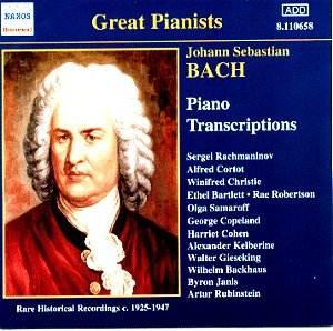 JS Bach - Piano Transcriptions [JW]: Classical CD Reviews